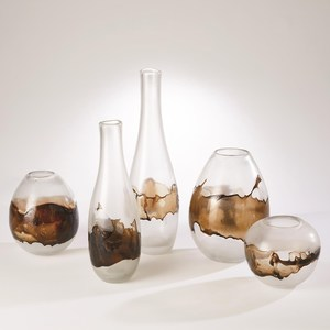 Thumbnail of Global Views - Molten Glass Vase, Clear/Topaz, Small