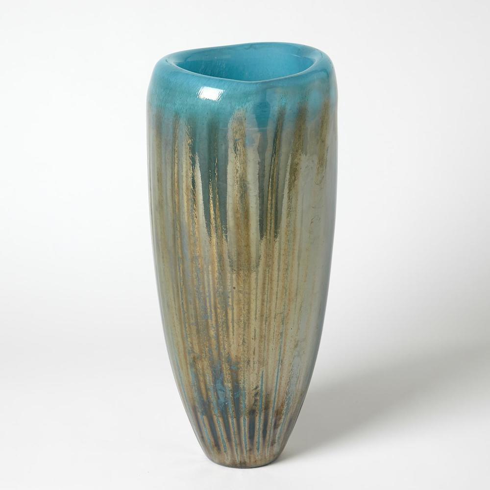 GLOBAL VIEWS - Tear Drop Folded Vase