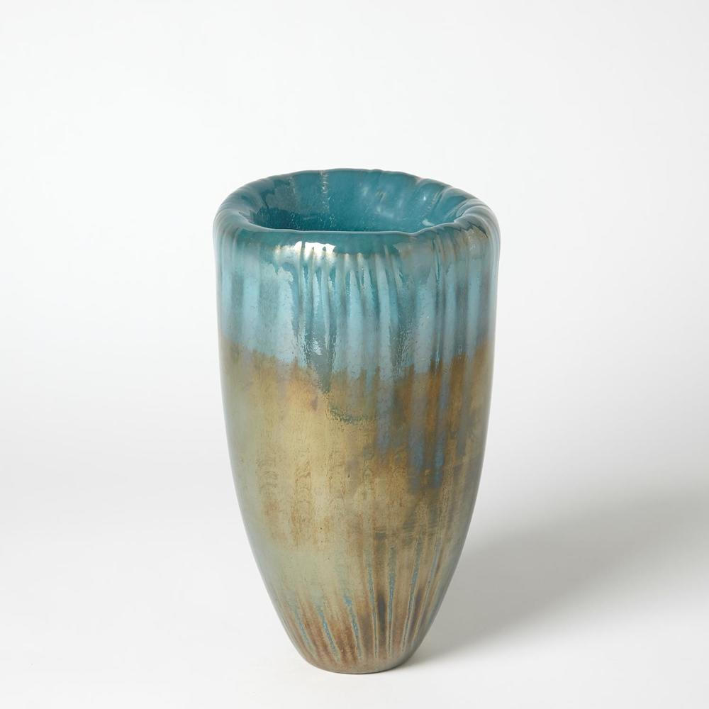 GLOBAL VIEWS - Tear Drop Folded Vase