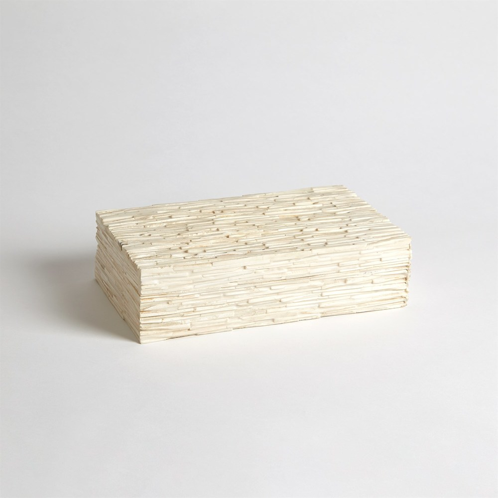 Global Views - Chiseled Bone Storage Box