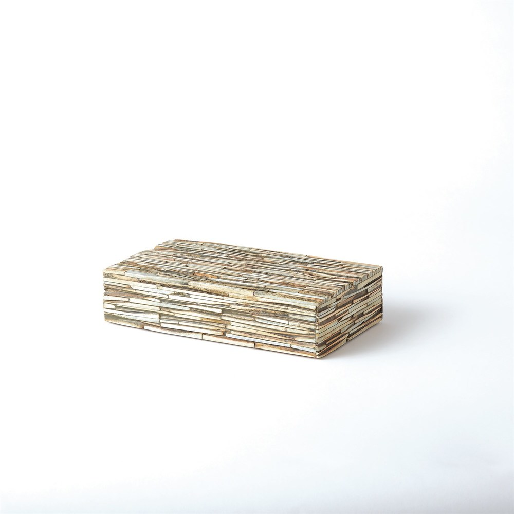 GLOBAL VIEWS - Chiseled Bone Box