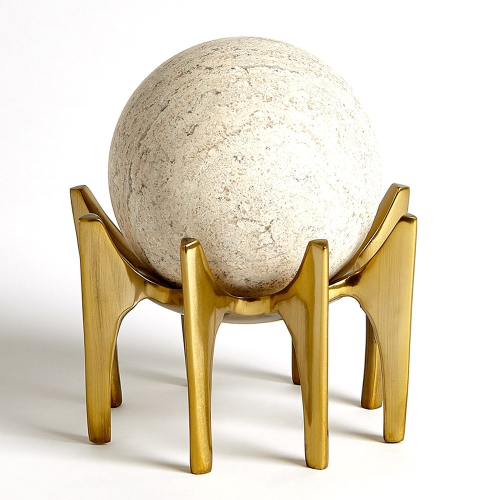 Global Views - Aquilo Sphere Holder, Antique Brass
