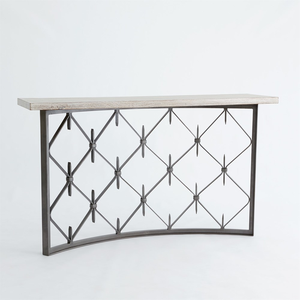 Global Views - Sidney Console with Wood Plank Top
