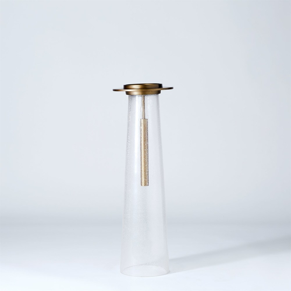 Global Views - Seeded Glass Pillar Holder