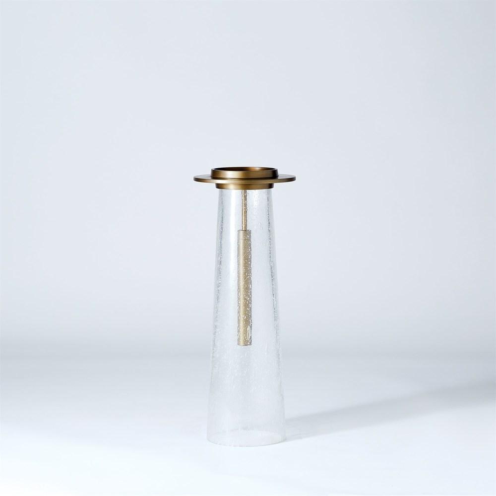 GLOBAL VIEWS - Seeded Glass Pillar Holder