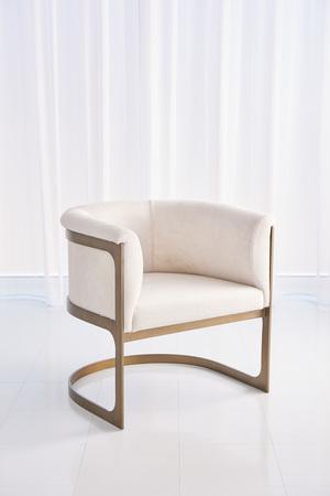 Thumbnail of GLOBAL VIEWS - Regan Barrel Chair, Ivory Hair-on-Hide
