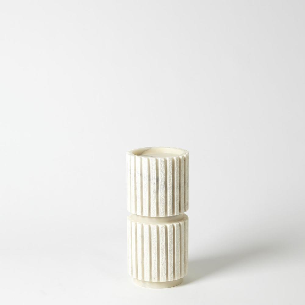 Global Views - Channel Pillar Holder Marble