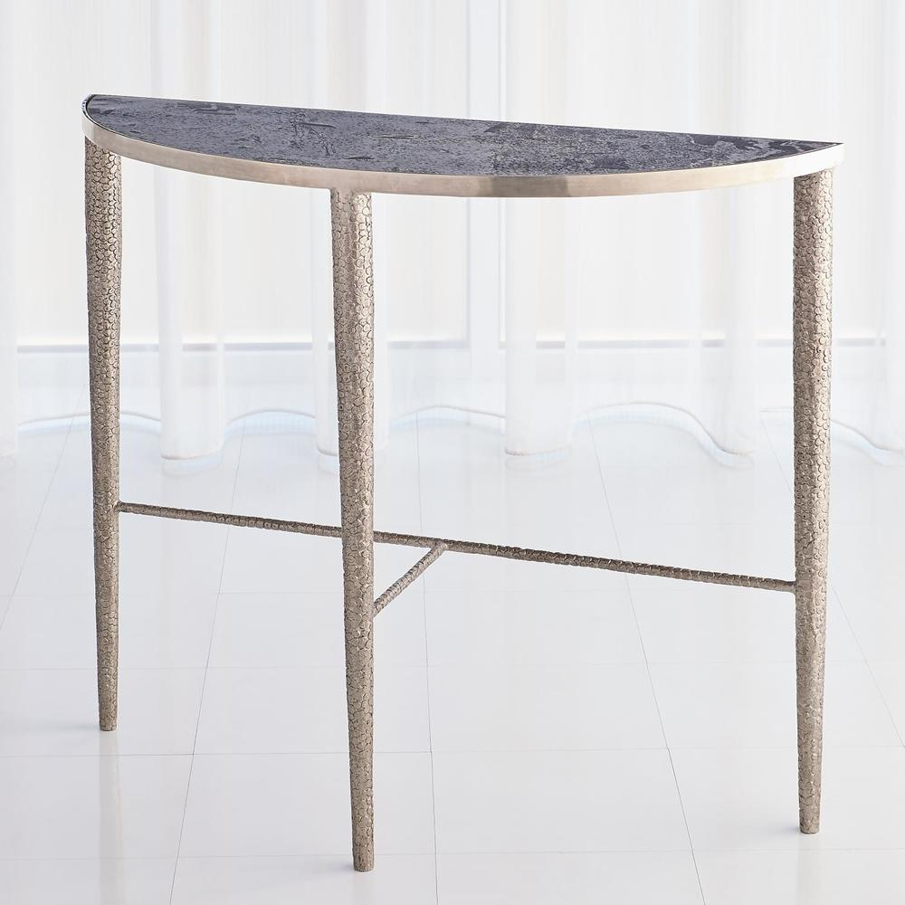 Global Views - Hammered Console with Grey Marble