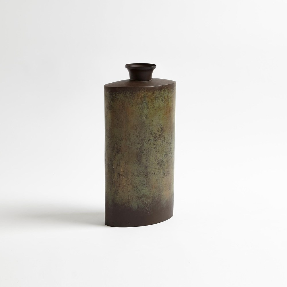 Global Views - Iron Canteen, Antique Bronze, Short