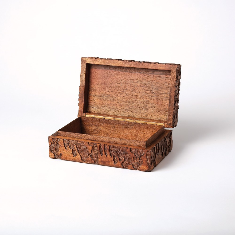 Global Views - Dentwood Box, Weathered Brown, Small