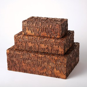 Thumbnail of Global Views - Dentwood Box, Weathered Brown, Small