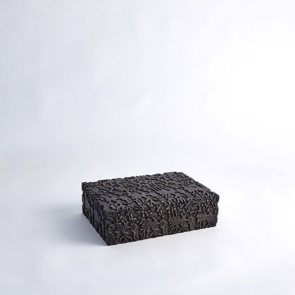 Global Views - Dentwood Box, Weathered Black, Medium