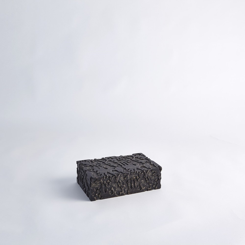 Global Views - Dentwood Box, Weathered Black, Small