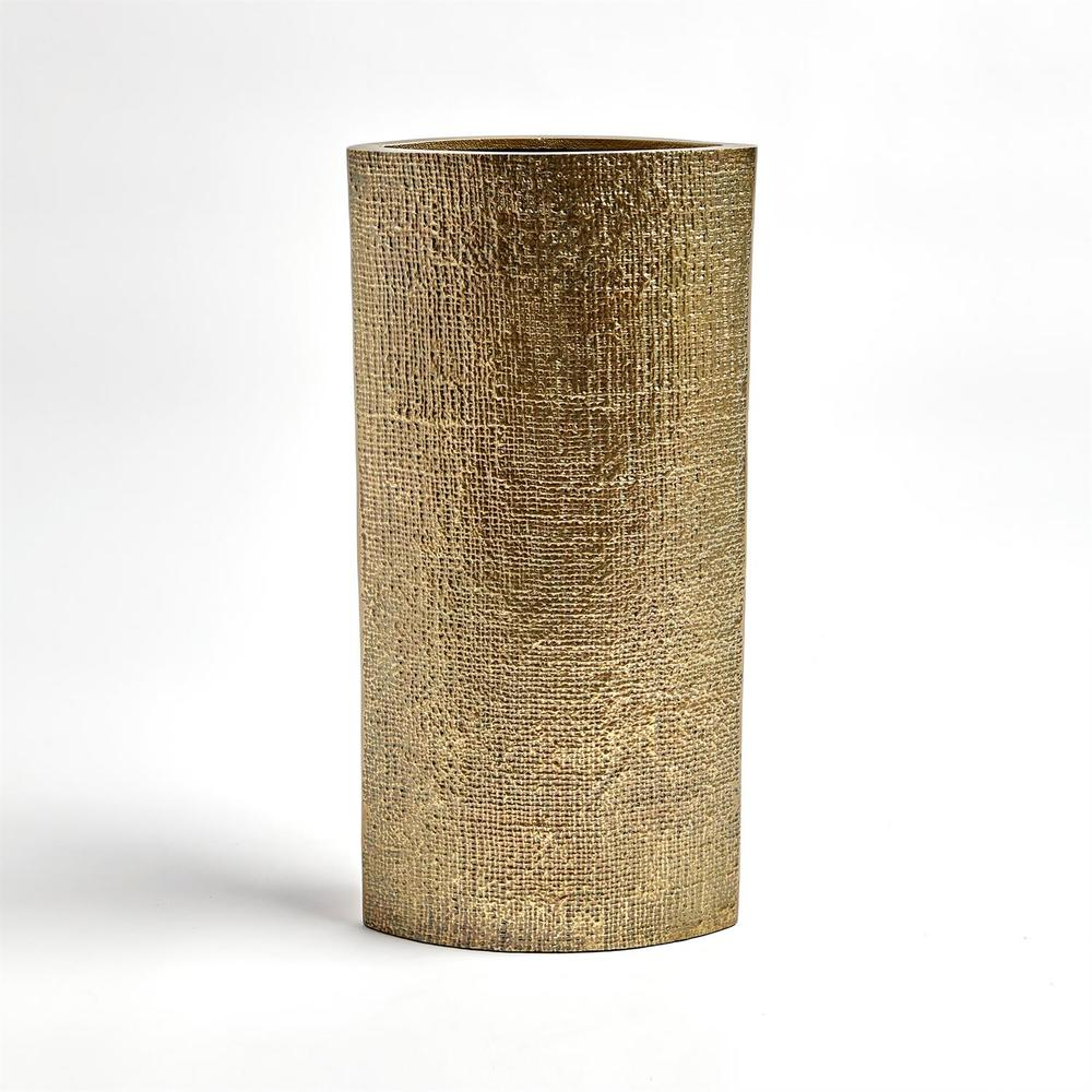 Global Views - Hemp Etched Vase, Brass, Large