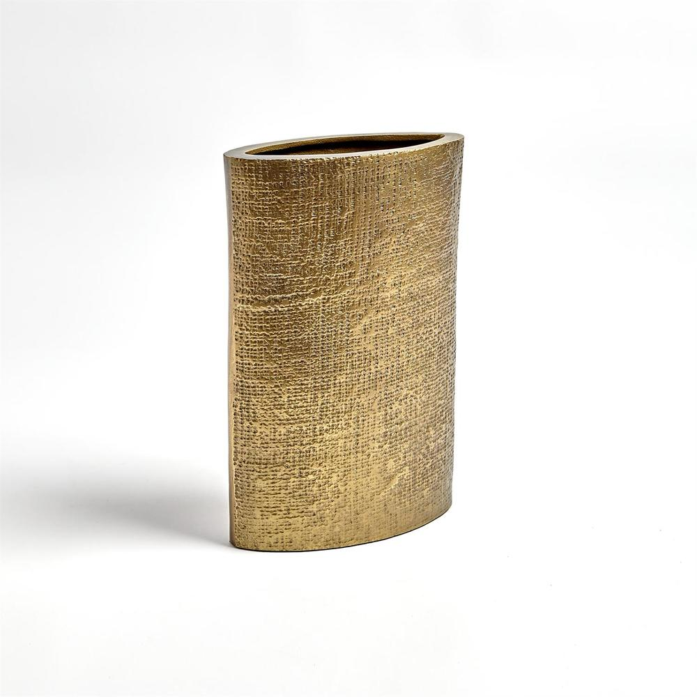 Global Views - Hemp Etched Vase, Brass, Small
