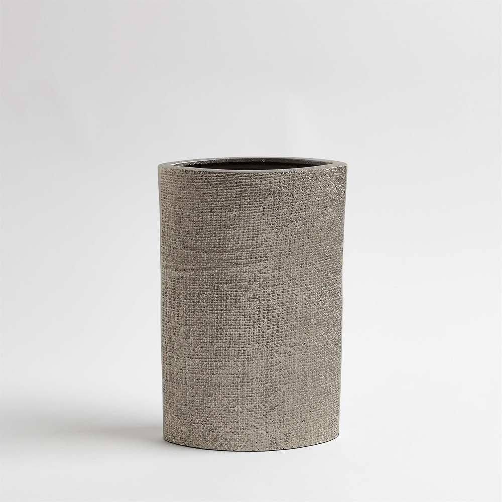 Global Views - Hemp Etched Vase, Nickel, Small