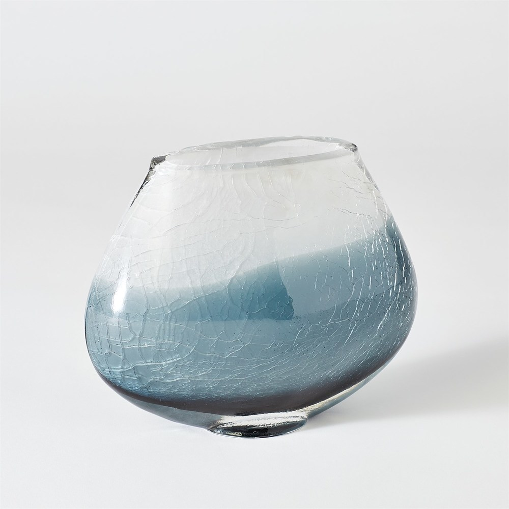 GLOBAL VIEWS - Crackled Frozen Vase, Medium