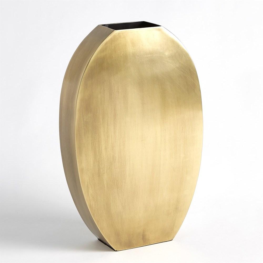 GLOBAL VIEWS - Squared Oval Vase, Large