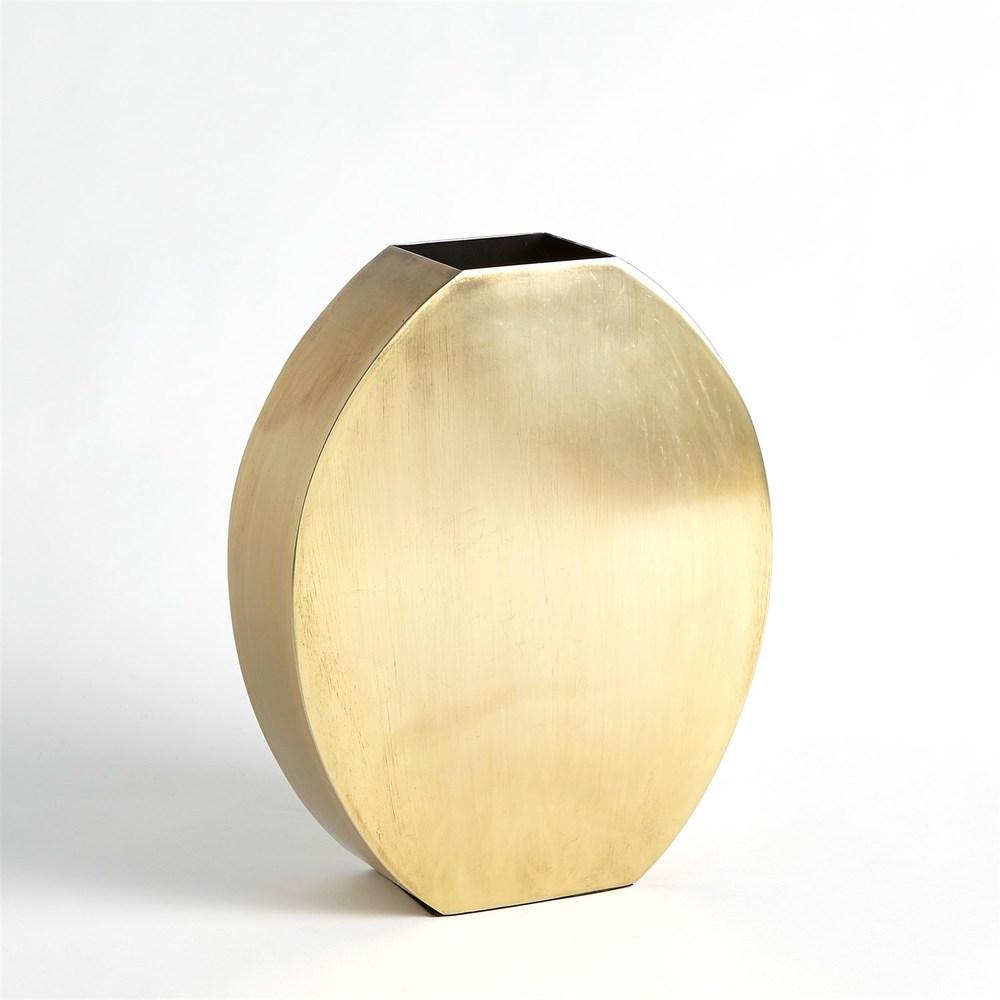 GLOBAL VIEWS - Squared Oval Vase, Medium