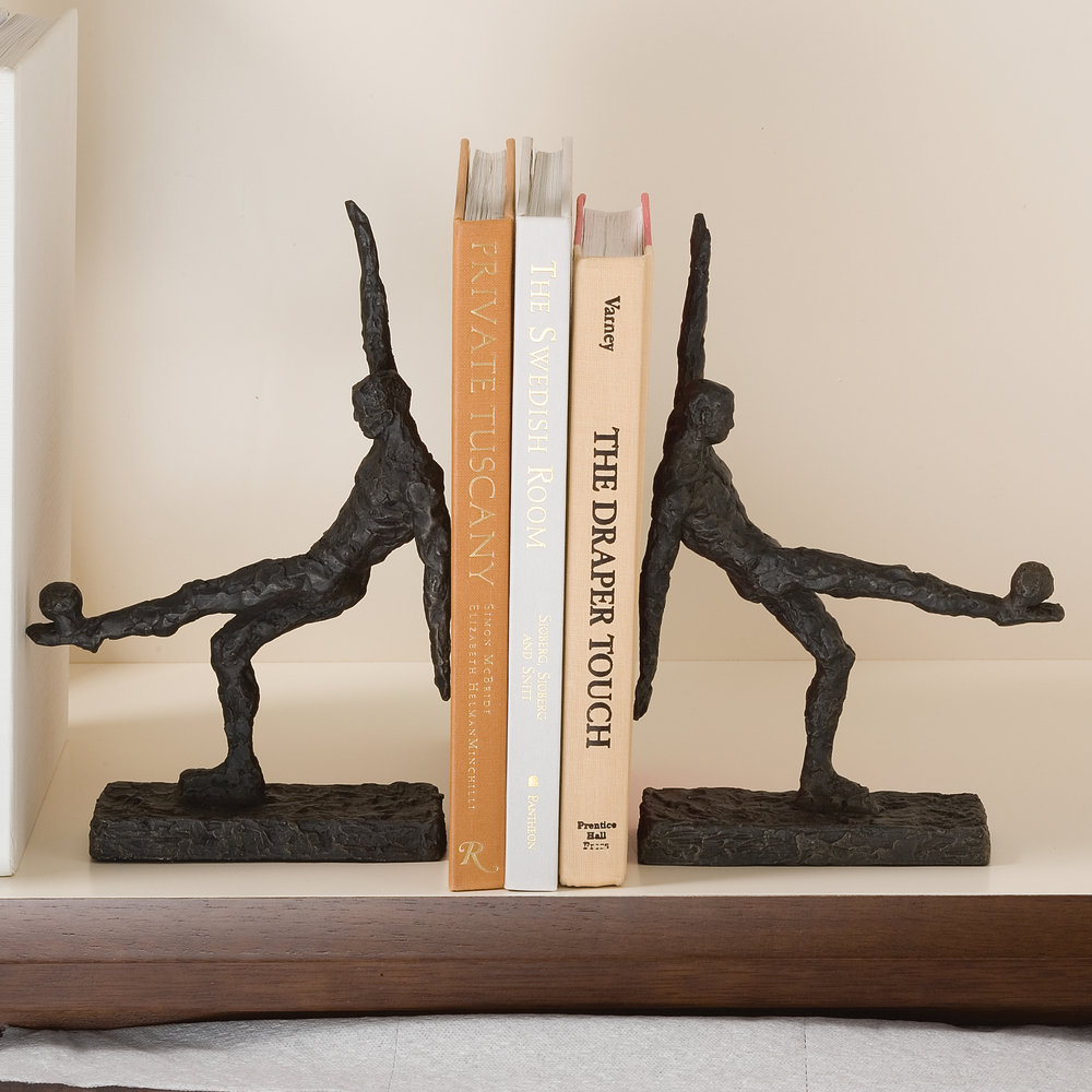Global Views - Soccer Kick Bookends, Pair