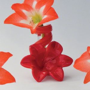 Thumbnail of Global Views - Red Lily Bud Vase