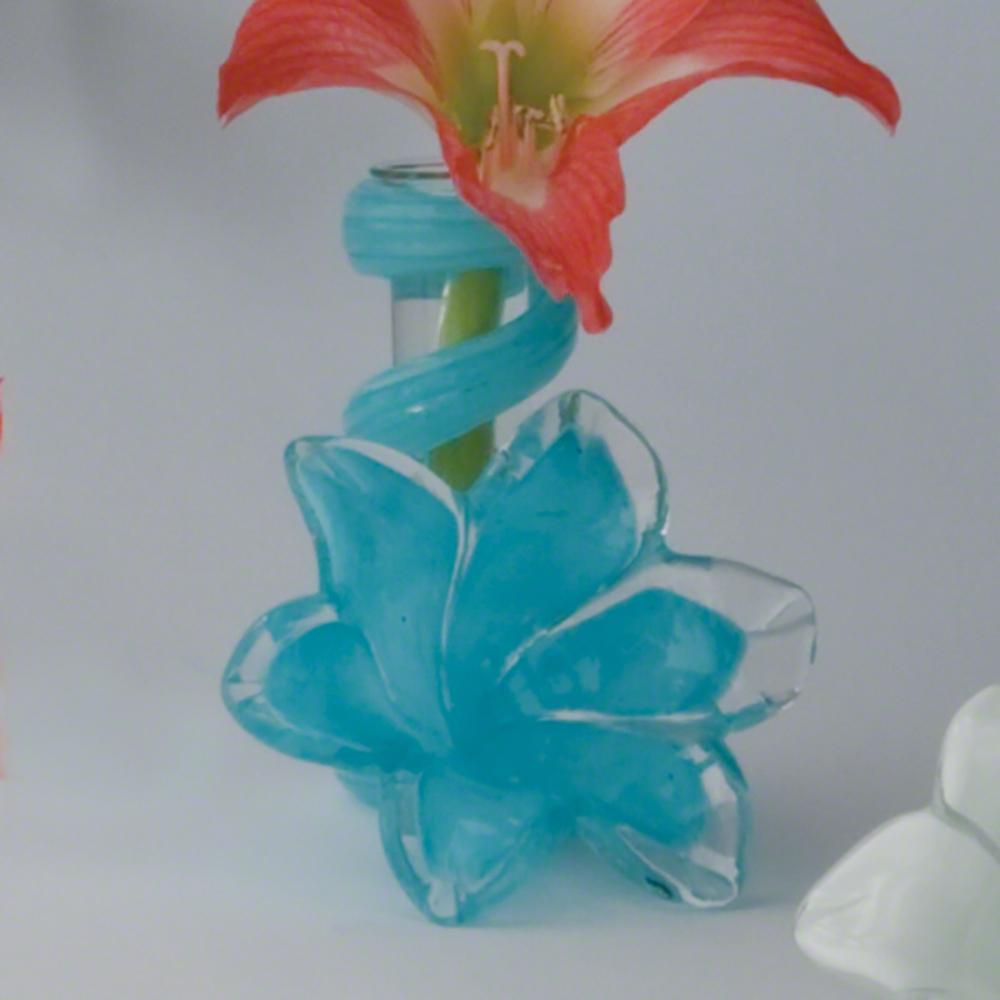 Global Views - Blue Lily Bud Vase