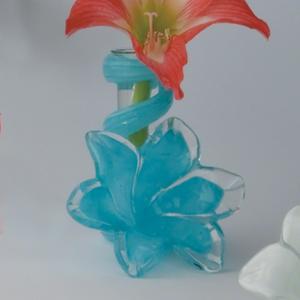 Thumbnail of Global Views - Blue Lily Bud Vase