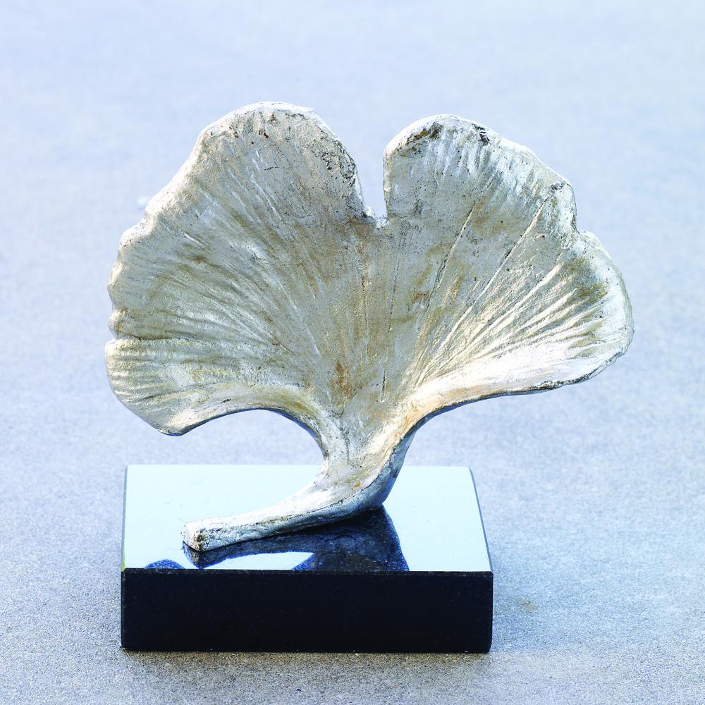 Global Views - Ginkgo Leaf Objet, Silver