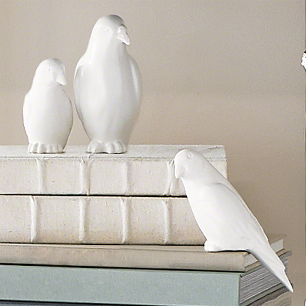 Global Views - Book Bird, Matte White, Small