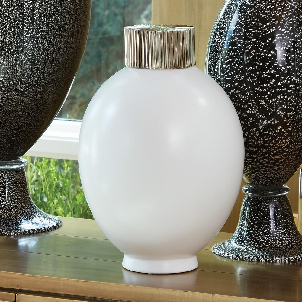 Global Views - Small Blanc De Chine Jar