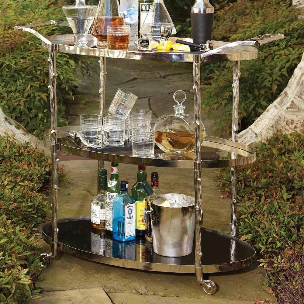 Global Views - Arbor Bar Cart, Nickel