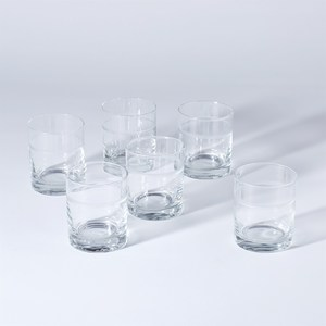 Thumbnail of Global Views - Double Old Fashion 1 Band Drinking Glasses, Set/7