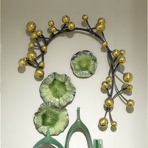 Thumbnail of Global Views - Free Formed Lily Plate, Green, Medium