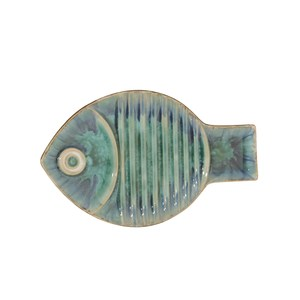 Thumbnail of Global Views - Blue Fish Plate, Medium