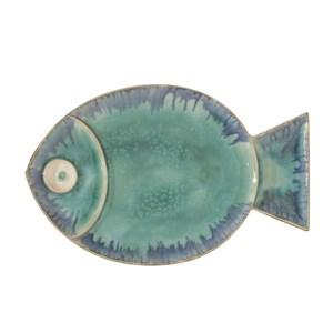 Thumbnail of Global Views - Blue Fish Plate, Large
