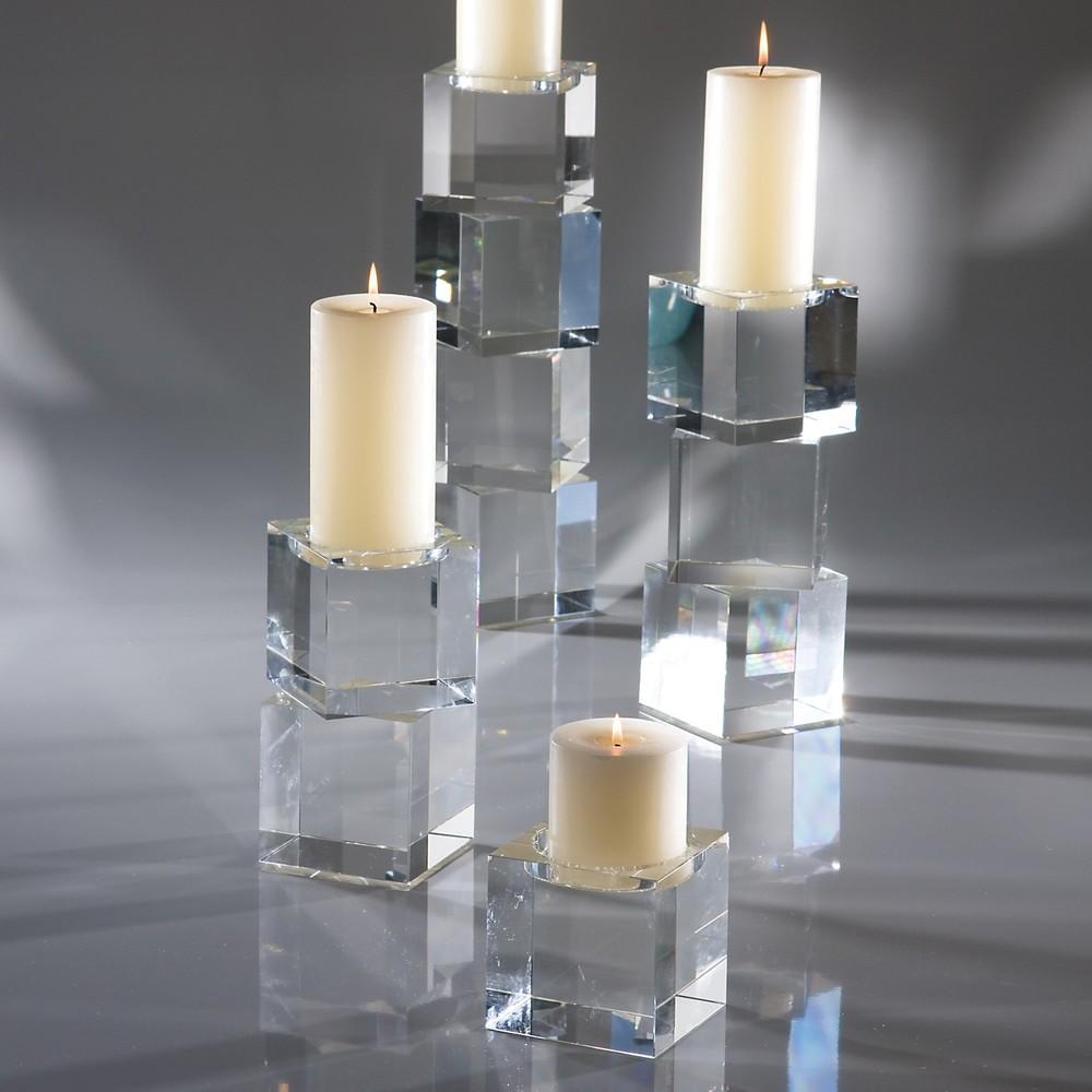 Global Views - Escalier Pillar Candle Holder