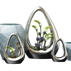 Thumbnail of Global Views - Carry About Vase, Silver, Large