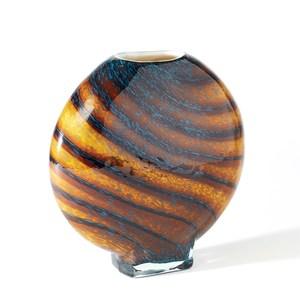 Thumbnail of Global Views - Cobalt Gold Swirl Vase