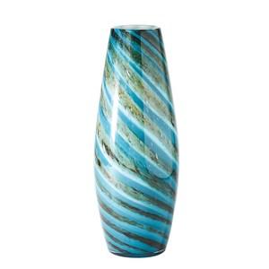 Thumbnail of GLOBAL VIEWS - Aqua Green Swirl Vase