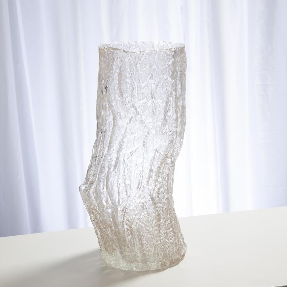 GLOBAL VIEWS - Faux Bois Glass Vase