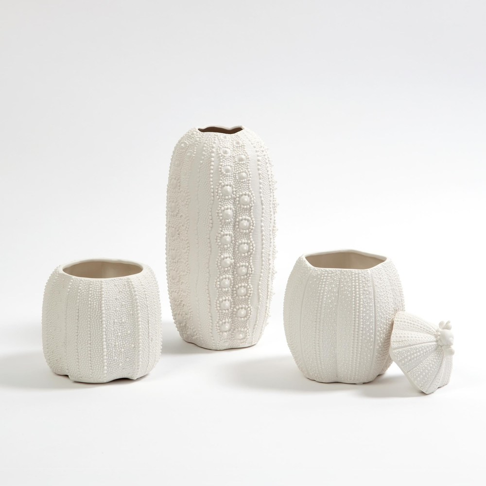 Global Views - Urchin Vase, Bisque White, Tall