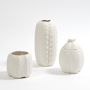 Thumbnail of Global Views - Urchin Vase, Bisque White, Tall