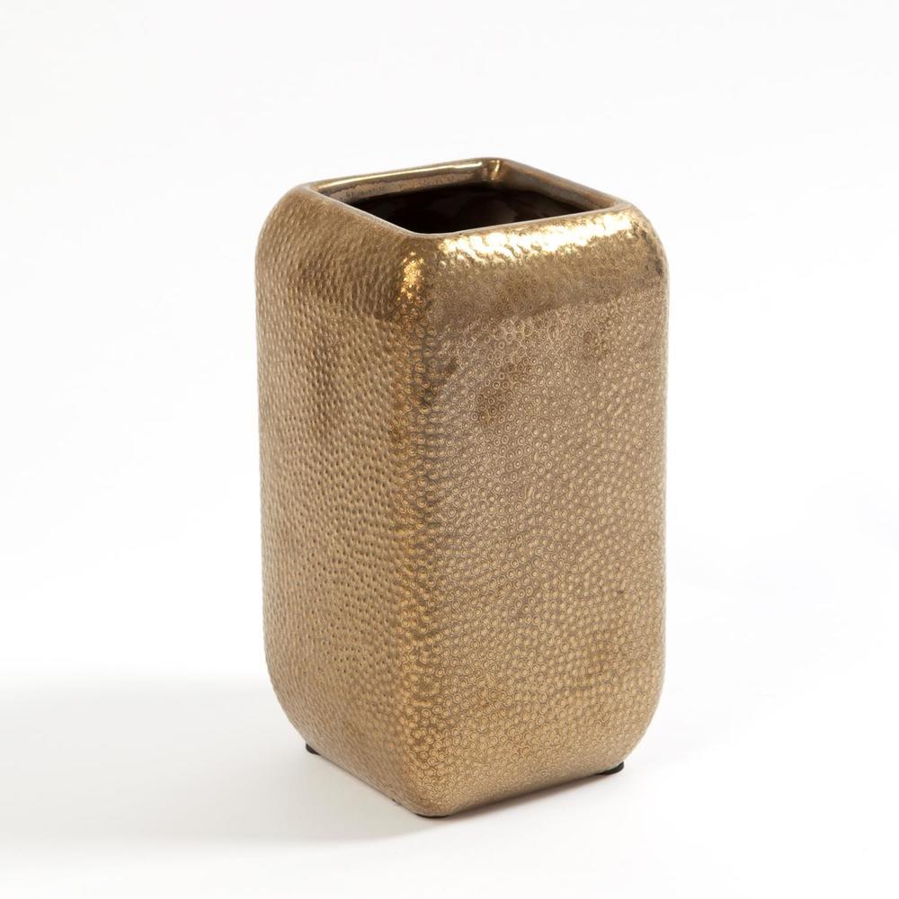 GLOBAL VIEWS - Wide Hammered Vase