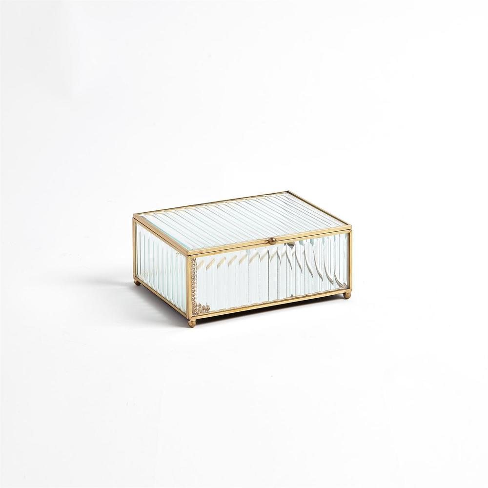Global Views - Reeded Glass Box, Clear, Small