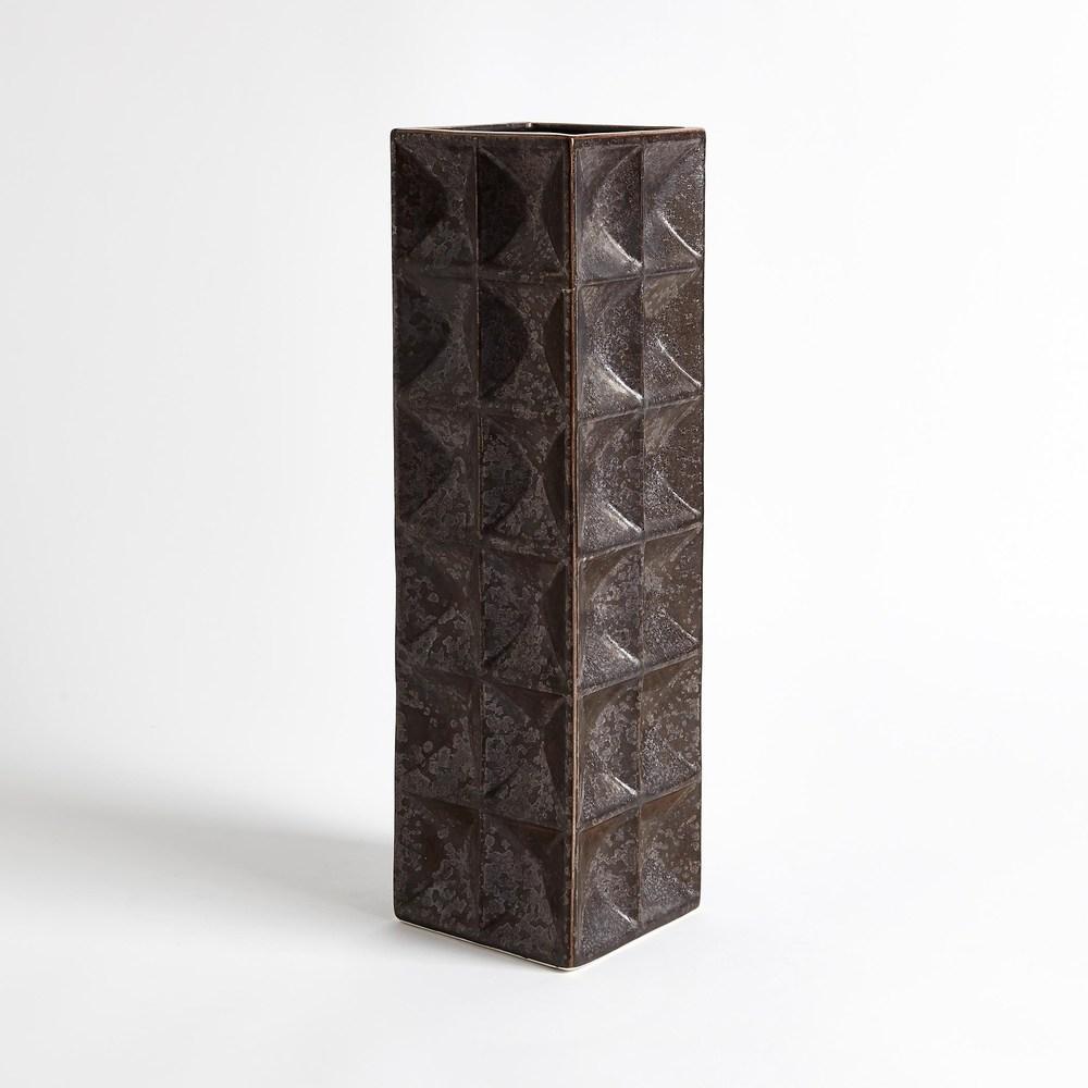 Global Views - Square Grid Vase, Large