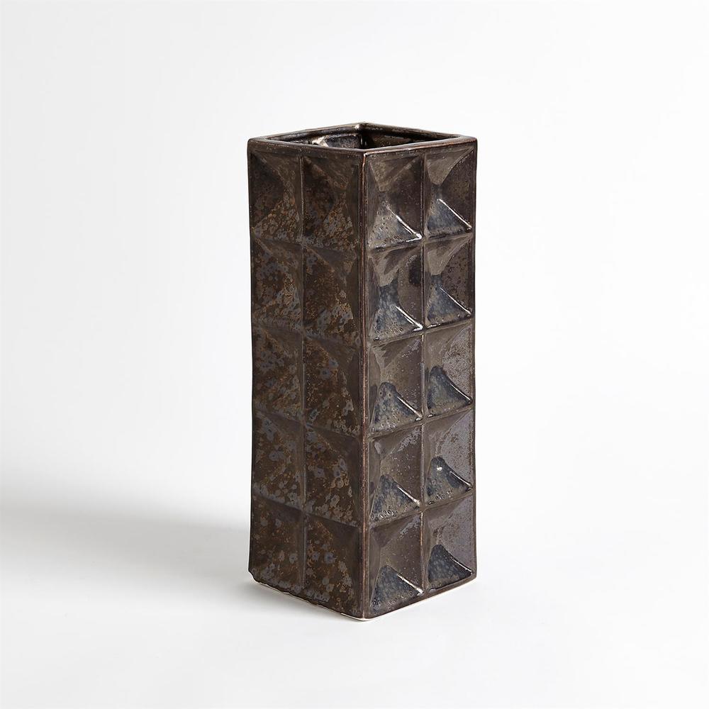 GLOBAL VIEWS - Square Grid Vase, Medium
