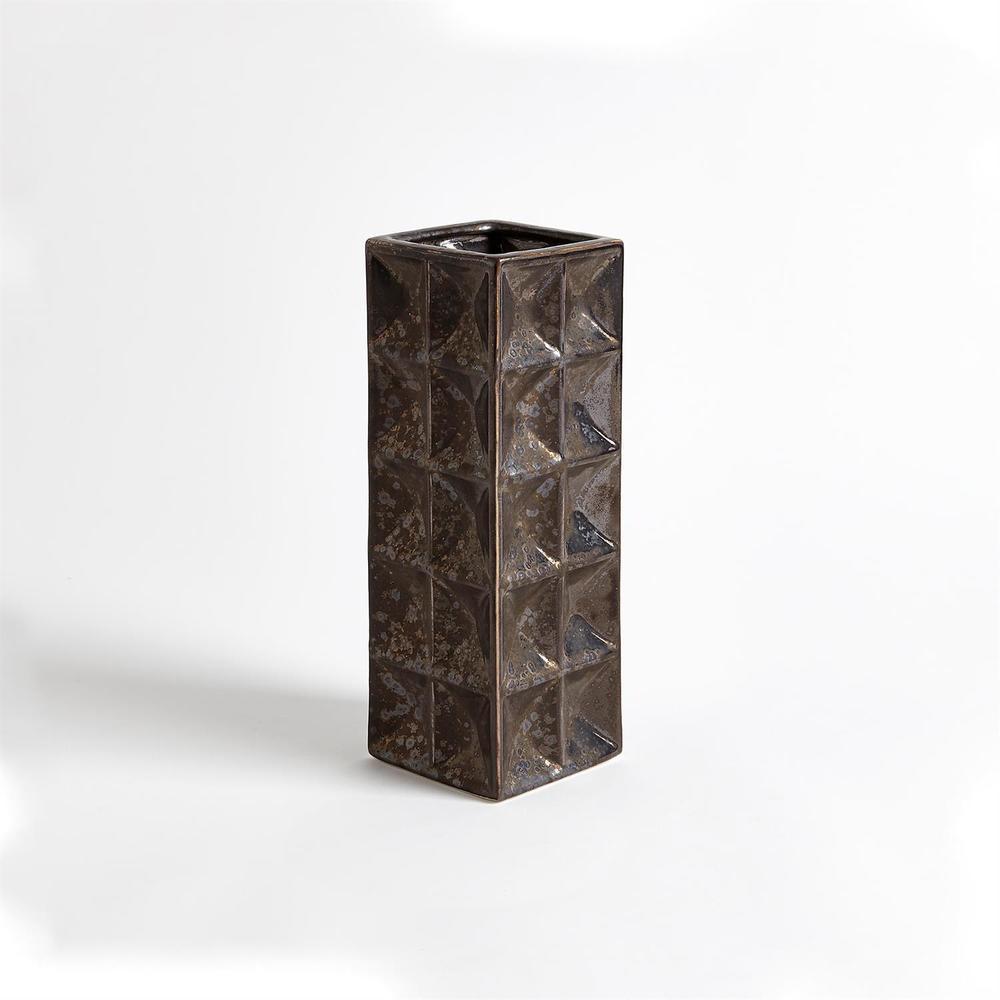 GLOBAL VIEWS - Square Grid Vase, Small