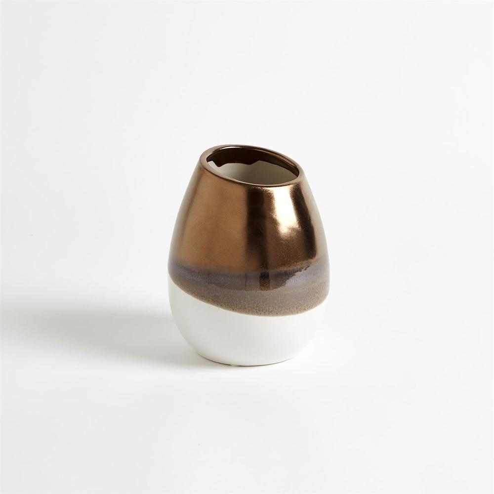GLOBAL VIEWS - Two Tone Vase, Small