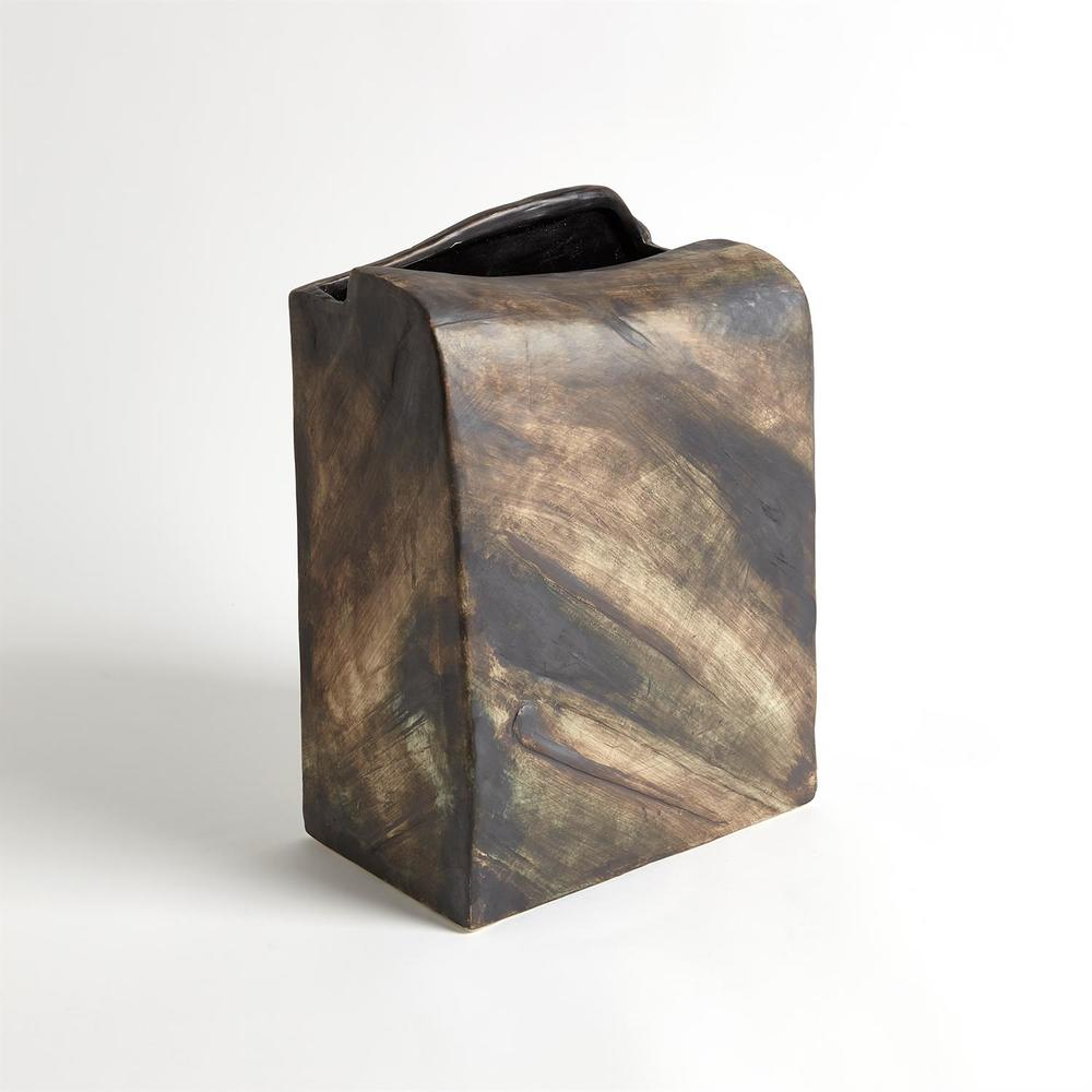 GLOBAL VIEWS - Square Henge Block Vase, Hand Washed, Extra Large