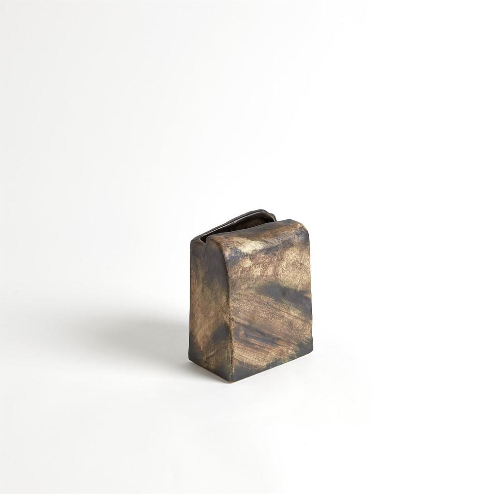GLOBAL VIEWS - Square Henge Block Vase, Hand Washed, Large